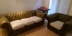 Chesterfield sofa and armchair for sale